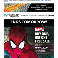 Ends tomorrow: Marvel Buy One, Get One Free Sale!