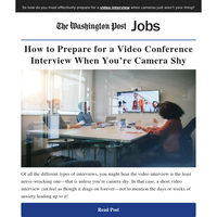 How to Prepare for a Video Conference Interview When You're Camera Shy