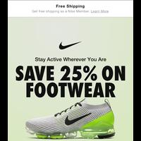 Ends tonight—25% off footwear
