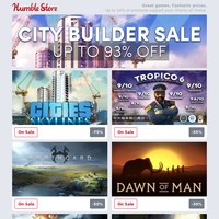 Up to 93% off City Builders + Save on GTA, Black Desert Online, and more this weekend!