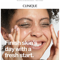 PM cleansing for happier skin.