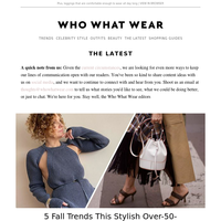 5 fall trends this stylish over-50-year-old is looking forward to wearing