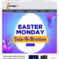 Don't Miss Our Easter Monday Sale-A-Bration!