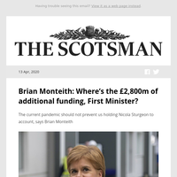 Brian Monteith: Where's the £2,800m of additional funding, First Minister?