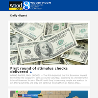 First round of stimulus checks delivered (13 April 2020, for {EMAIL})