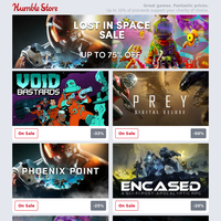Get lost in Space this week with up to 75% off Sci-Fi adventures! Save on Phoenix Point, No Man's Sky, Void Bastards, and more!