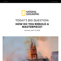 HISTORY: Crippled by fire, Notre Dame is imagining its rise