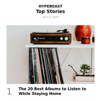 This Week's Top Stories: The 20 Best Albums to Listen to While Staying Home and More
