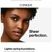 Your skin's spring foundation.