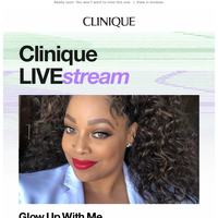 The next Clinique LIVE:stream starts soon.