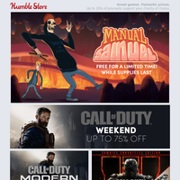 Get a FREE copy of Manual Samuel + Up to 75% off Call of Duty and Metro games + pre-order XCOM: Chimera Squad!