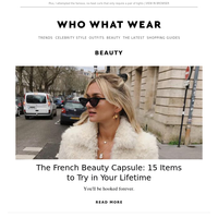 The French beauty capsule: 15 items to try in your lifetime
