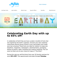 Celebrate EARTH DAY with us!