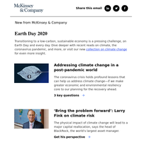 Coronavirus, Earth Day, and the call for climate action