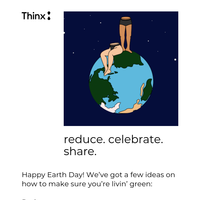 Celebrate Earth Day the Thinx way 🌎