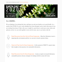 Celebrating Earth Day – Let's zero out lab waste
