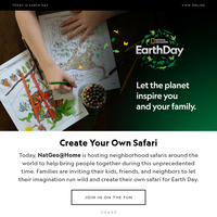 Earth Day Special Edition: Today, let the planet inspire you