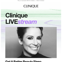 Clinique LIVE:stream is really good this week.