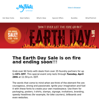 Earth Day SALE is on FIRE!