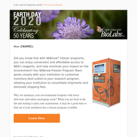 Celebrating Earth Day – Reduce your carbon footprint by utilizing your freezer program