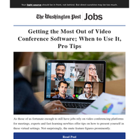 Getting the Most Out of Video Conference Software; When to Use It, Pro Tips
