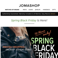💢 SPRING BLACK FRIDAY—Prices Slashed Sitewide (72 hours only)
