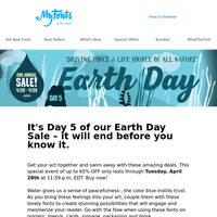 Coming to an END: Earth Day SALE!