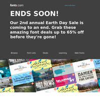 ENDS SOON: Earth Day Sale is almost over!