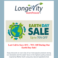 Last Call! - Earth Day Sale (Up to 70% off!)