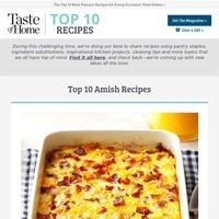 Top 10 Amish Recipes