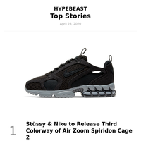 Your Top Stories: Stüssy & Nike to Release Third Colorway of Air Zoom Spiridon Cage 2 and More