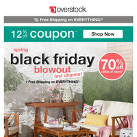 Make It Easy: 12% off Coupon + Our Best Deals! Shop the MASSIVE Spring Black Friday Blowout!