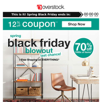 12% off Coupon + 2 Days Left: It's Spring Black Friday, You Know You Want to... Shop Now!