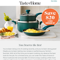 Save $20! You Deserve the best.