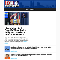 Live video: Ohio Gov. DeWine holds daily coronavirus news conference
