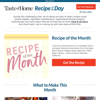Recipe of the Month