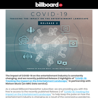 Access a Billboard Pro Exclusive: Release 2 - COVID-19 Music & Entertainment Insights