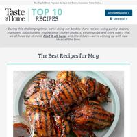 Top 10 May Recipes