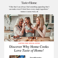 (1) New message from Taste of Home Magazine! We have a notification for you.