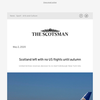 Scotland left with no US flights until autumn