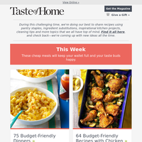 75 Budget-Friendly Dinners