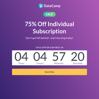 [75% Off] Save while you can!