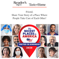 Kindness Goes a Long Way...Tell Us About the Nicest Place in America Now