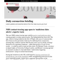 Coronavirus: NHS contact-tracing app open to 'malicious false alerts', experts warn