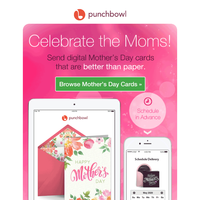 REMINDER: Send Mother's Day cards by email or text!