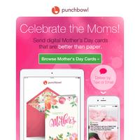 TODAY: Send digital Mother's Day cards! 🌸 Deliver instantly