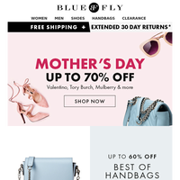 Happy Mother's Day! Up To 70% Off Tory Burch, Miu Miu, Trina Turk & more