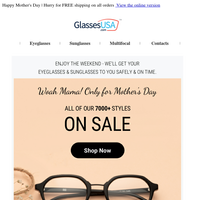 ⚫ Important update! You've scored something huge: Mother's Day Clearance