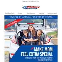 Get quality auto parts at already lowered prices this Mother's day
