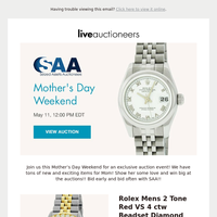 Seized Assets Auctioneers | Mother's Day Weekend